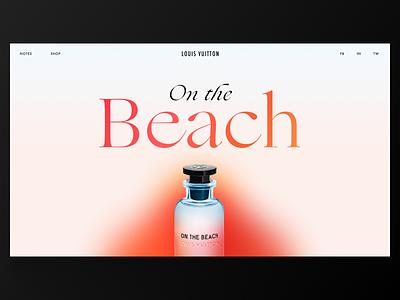 Louis Vuitton Perfume Website color gradient typography minimal ecommerce ux ui website web louis vuitton