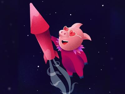 Elton Piglet - Rocket Pig