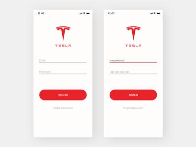 Tesla App - Login