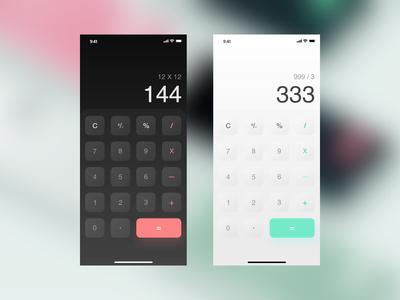 Calculator App - Daily UI 004