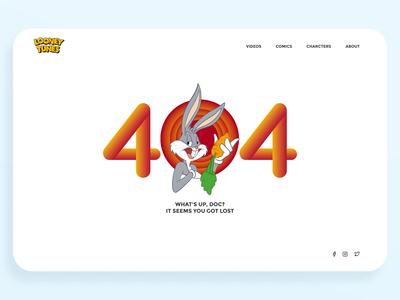 Bugs Bunny 404 - Daily UI 008