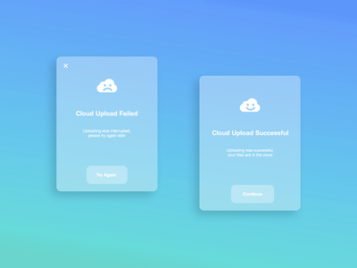 Cloud Flash Message - Daily UI 011