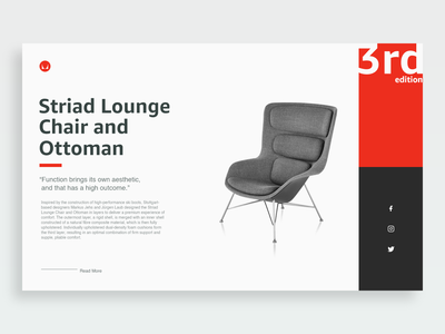 Lounge Product Page - Daily UI 012