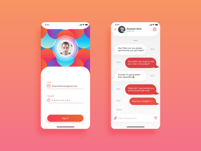 Direct Messaging app - Daily UI 013 013 dailyui ios ux uiux messager message login chatting chat app ui