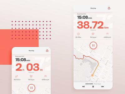 Running app - Daily UI 014 run sports route countdowntimer countdown ux ui mobile running app daily ui 014 dailyui