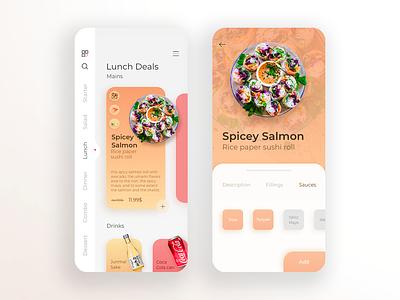 Tokyo Sushi Food - Daily UI 016 minimal order ui uiux ux mobile ui japan tokyo sushi food aplication app design app mobile app mobile
