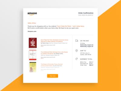 Amazon Email Receipt - Daily UI 017