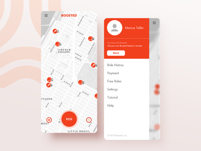 Boosted Riding app - Location Tracker Daily UI 020