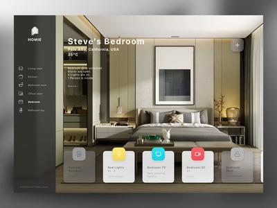 Smart Home Dashboard - DailyUI 021