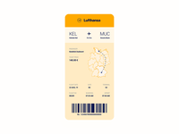 Boarding Pass - Daily UI 024