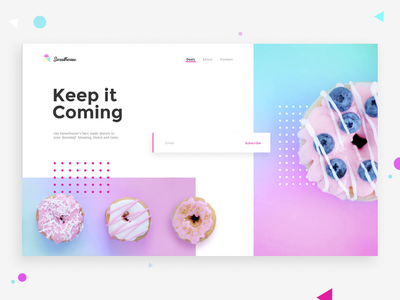 Donuts Subscription - DailyUI 026 webdesign color ecommrece website web ux ui sweet donut donuts 026 dailyui subscribe home