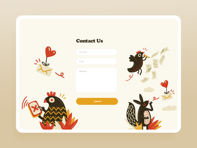 Contact US - DailyUI 028 color minimal letter 028 dailyui form contact illustration