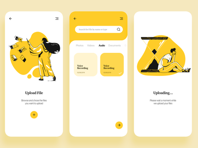 File Upload - Daily UI 031 minimal concept product design ui design mobile ui illustration flat app mobile app daily ui mobile 031 dailyui file upload