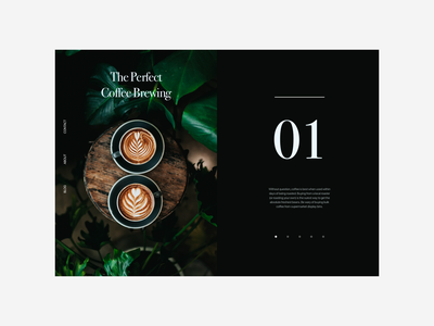 Coffee Blog - Daily UI 035 clean typography minimal post blog post blog coffee 035 dailyui
