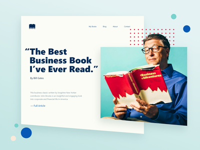 Bill Gates Book Review - DailyUI 039 039 dailyui ux ui minimal gradient webdesign website web testimonials review book gates bill