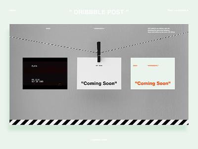 """Coming Soon"" OW - DailyUI 048 vhs minimal off white virgil abloh typography dailyui web design web coming soon website"