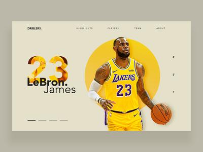 LeBron James - DailyUI 049
