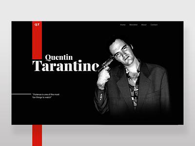 Quentin Tarantino typography minimal director holywood films movie website webdesign web ui tarantino quentin tarantino quentin