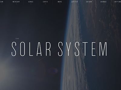 The Solar System space design css
