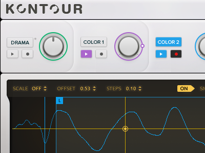Kontour Synthesizer ui piano music instrument interface design