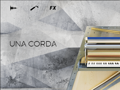 Unc Corda Piano Interface app synthesizer ux design vst interface ui piano music instrument interface design