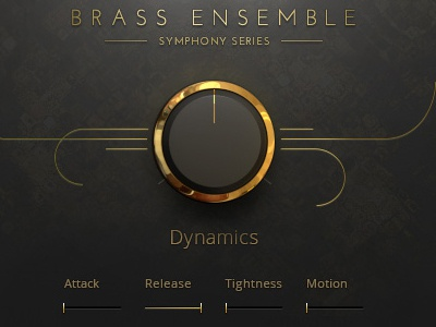 Symphony Series Orchestral Brass Sample Instrument app synthesizer ux design vst interface ui piano music instrument interface design