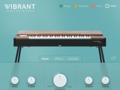Vibrant E-Piano UI