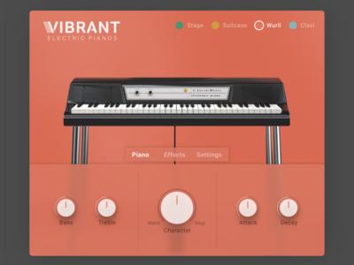 Vibrant - Electric Piano UI