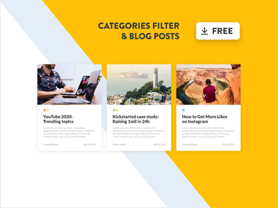Blog Posts Templates & Categories Index Filtering interface web animation animations filter index web app design website design system free download freebie free application interface design categories tempalte filters blog posts blog app animation after effects