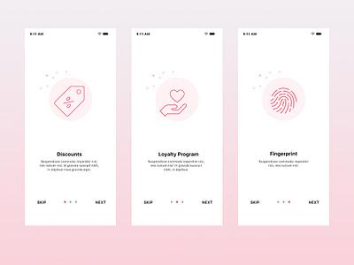 Onboarding Screen for Iphone App ipone app design illustration light ui