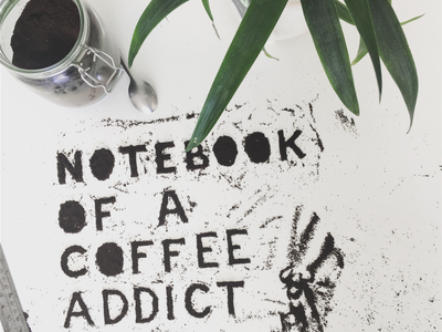 Cover of booklet 'notebook for a coffee affict'