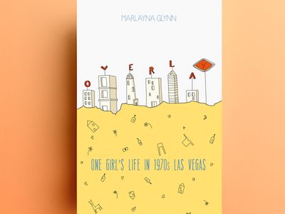 Book cover 'overlay' las vegas illustration cover book