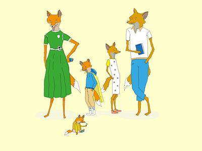 Meet the fox family childrensbook fantasy fox family sketch illustrator drawing illustration