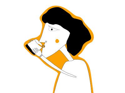 The tea lady  storytelling brand identity characterdesign character lady tea branding illustrator drawing illustration