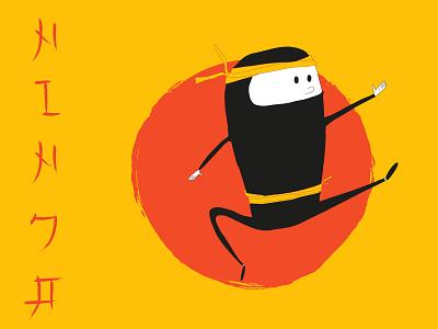 ninja  bicycleflag childillustration asianstyle sport ninja characterdesign sketch illustrator drawing illustration
