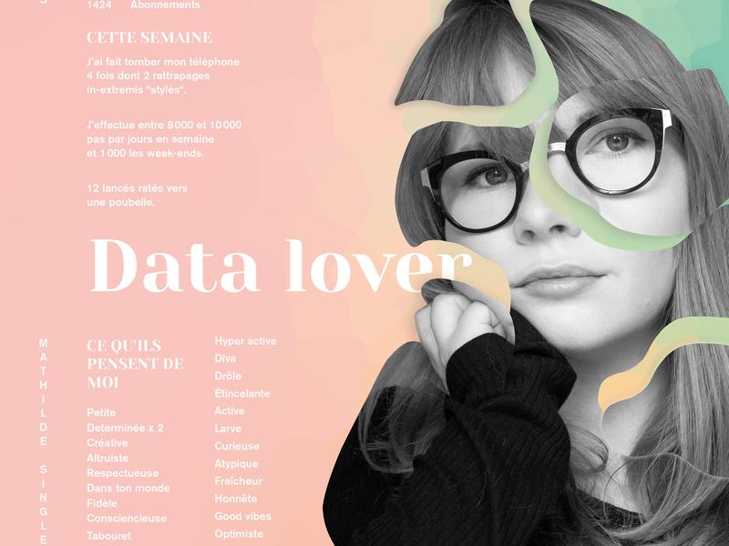 Personnal Branding data poster photography typography branding design art