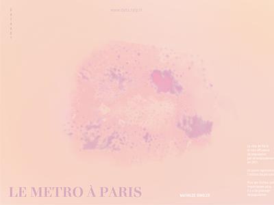 Metro Paris data design data visualization print dataart