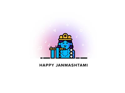 Happy Janmashtami quovantis mangesh suneriya india krishna janmashtami culture minimalistic lord krishna