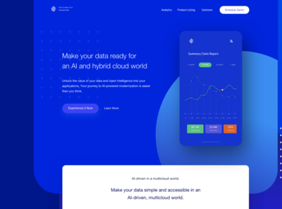 Data & Analytics Homepage Concept