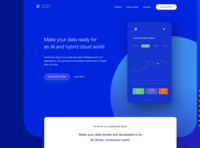Data & Analytics Homepage Concept