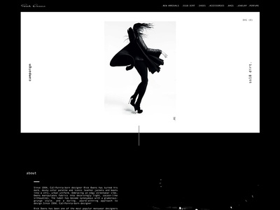 Rick Owens Homepage Concept