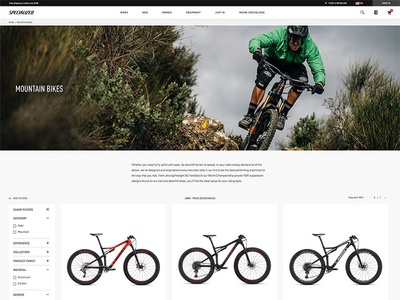 Specialized Product Listing Page