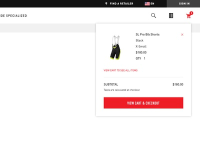 Specialized  - Add to Cart Design