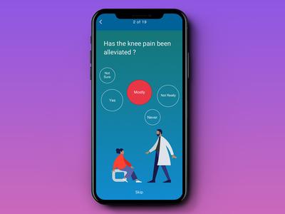 Health Care App Questionnaire Interface
