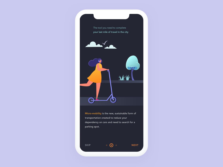 Ridr App Concept minimal animation branding vector logo illustration ux interface app design direction. design direction ui