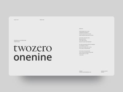 Daily UI Design 02 Portfolio Opening