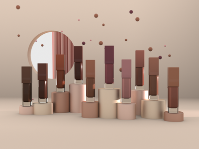 final shot from a comercial beauty spot motion design animation c4d modelling 3d illustration