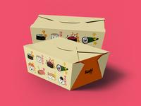 Sushi lovers cafe box