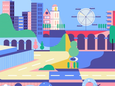 City life animation graphicdesign design buildings illustration