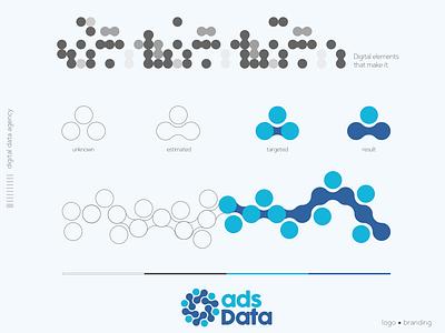 adsdata   digital data agency illustrator type minimal flat design social media icon logo typography branding